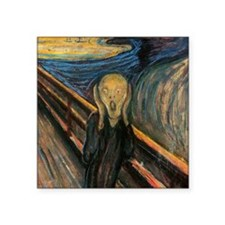 "Edvard Munch ""The Scream"" Square Sticker 3"" x 3"""