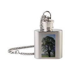 Oak tree Flask Necklace