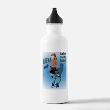 Roller Derby Robot Water Bottle