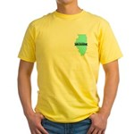 Yellow T-Shirt for a True Blue Illinois LIBERAL