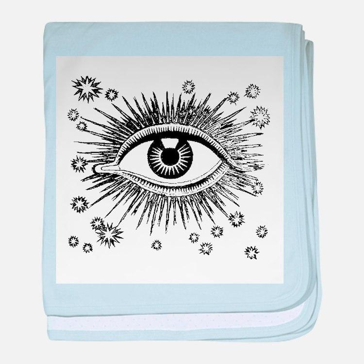 Eye Eyeball baby blanket