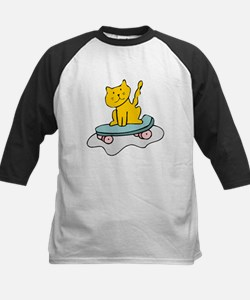 Cat On Skateboard Baseball Jersey