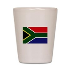 South African flag Shot Glass