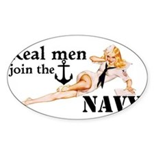 Real men join the Navy Decal