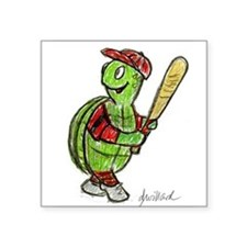 Baseball Turtle Sticker