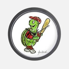 Baseball Turtle Wall Clock