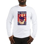 Obey the Rat Terrier! USA Long Sleeve T-Shirt