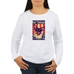 Obey the Rat Terrier! Women's Long Sleeve T