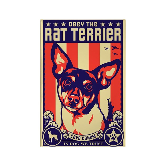 Obey the Rat Terrier! - USA Magnet by dogs_of_war