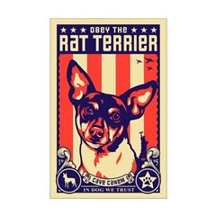 Obey the Rat Terrier! USA Posters
