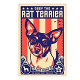 Obey the rat terrier Postcards