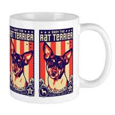 Obey ther Rat Terrier! USA Propaganda Small Mug