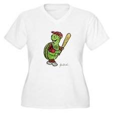 Baseball Turtle Plus Size T-Shirt