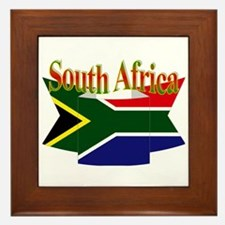 South African ribbon Framed Tile