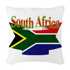 South African ribbon Woven Throw Pillow