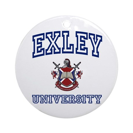 EXLEY University Ornament (Round)