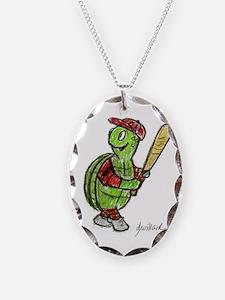 Baseball Turtle Necklace