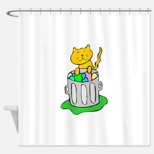 Cat In Garbage Shower Curtain