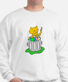 Cat In Garbage Sweatshirt
