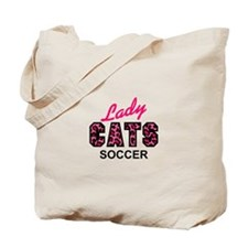 LADY CATS SOCCER Tote Bag