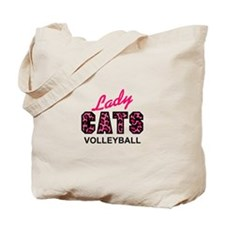LADY CATS VOLLEYBALL Tote Bag