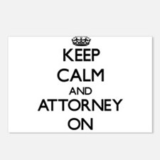 Keep Calm and Attorney ON Postcards (Package of 8)