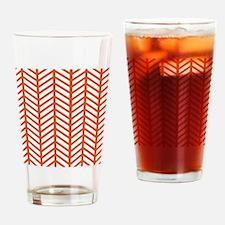 Orange Lattice Weave Drinking Glass