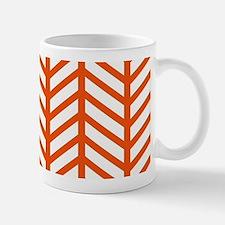 Orange Lattice Weave Mugs