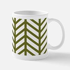 Drab Green Chevron Weave Mugs