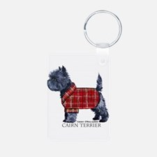 Cairn Terrier Holiday Keychains