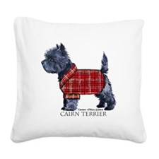 Cairn Terrier Holiday Square Canvas Pillow