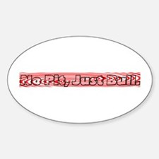 Red swirl Oval Decal