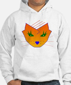 Orange Cat Face Hoodie