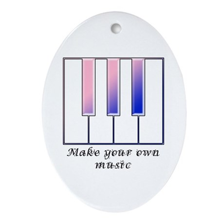 Make your own music Oval Ornament