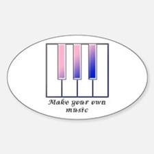 Make your own music Oval Decal