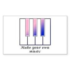 Make your own music Rectangle Decal