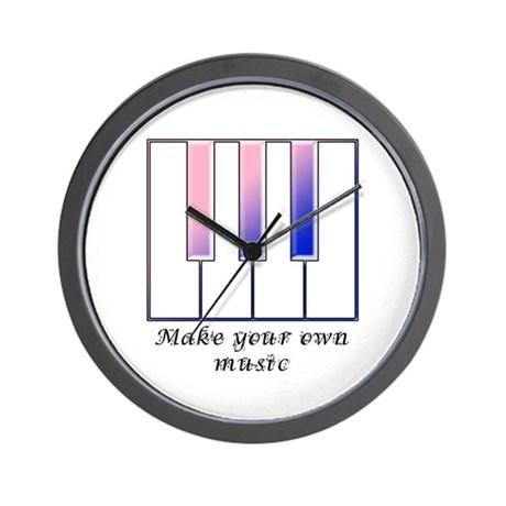 Make your own music Wall Clock