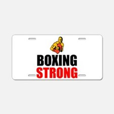 Boxing Strong Aluminum License Plate