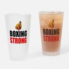 Boxing Strong Drinking Glass