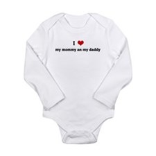 Unique I heart daddy Long Sleeve Infant Bodysuit