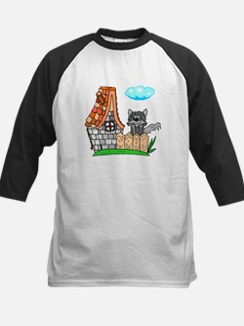 Cat In Yard Baseball Jersey