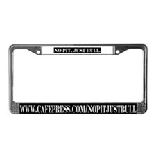 black & white License Plate Frame