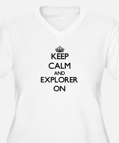 Keep Calm and Explorer ON Plus Size T-Shirt
