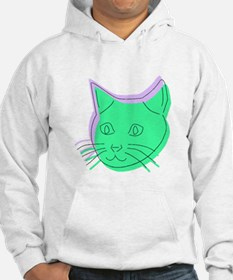 Abstract Cat Hoodie