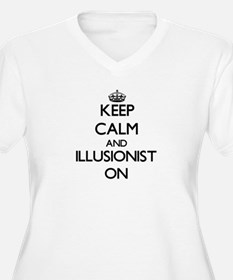 Keep Calm and Illusionist ON Plus Size T-Shirt