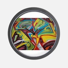 Colors vibrant graffiti art Wall Clock