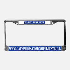 Blue & white License Plate Frame