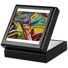 Colors vibrant graffiti art Keepsake Box