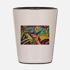Colors vibrant graffiti art Shot Glass