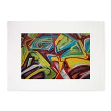 Colors vibrant graffiti art 5'x7'Area Rug